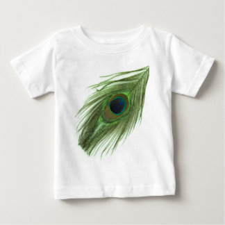 Green Peacock Feather D Baby T-Shirt