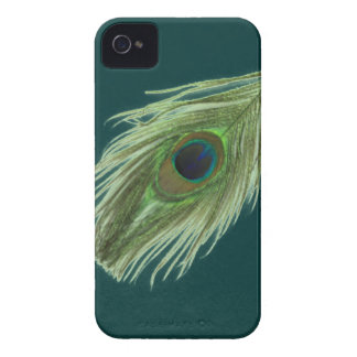 Green Peacock Feather D iPhone 4 Case-Mate Case