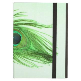 Green Peacock Feather D Powis iPad Case