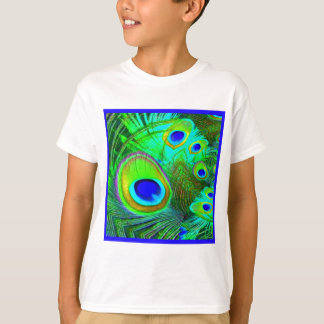 Green Peacock Feather Eyes Gifts T-Shirt