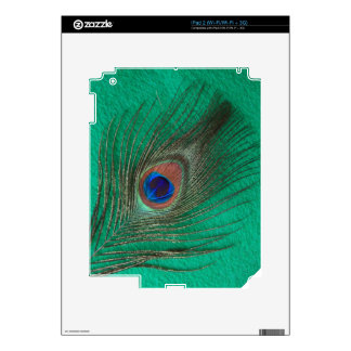 Green Peacock Feather iPad 2 Skin