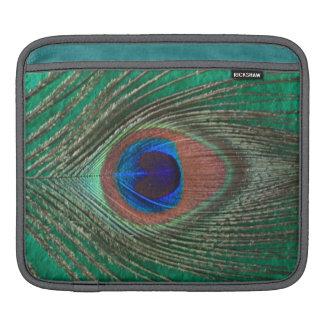 Green Peacock Feather iPad Sleeve