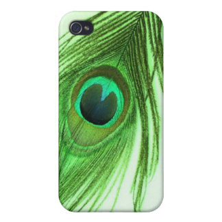 Green Peacock Feather iPhone 4 Cover