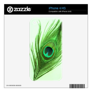Green Peacock Feather iPhone 4 Skin