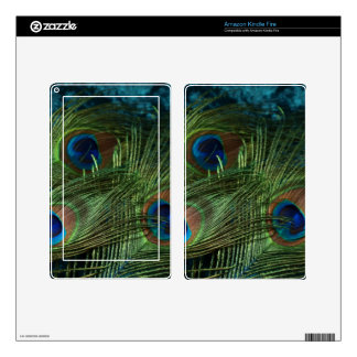 Green Peacock Feather Kindle Fire Skin