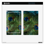 Green Peacock Feather Kindle Fire Skins