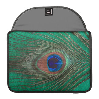 "Green Peacock Feather MacBook Pro 13"" Sleeve"