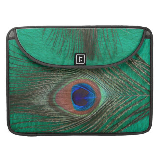 "Green Peacock Feather MacBook Pro 15"" Sleeve"