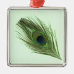 Green Peacock Feather P Ornament