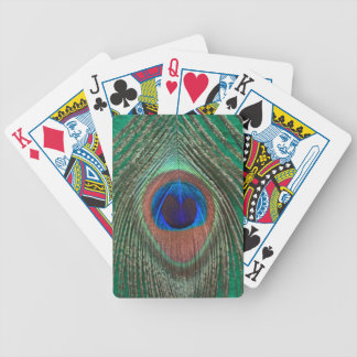Green Peacock Feather Playing Cards