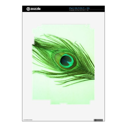 Green Peacock Feather Skins For iPad 2