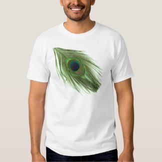 Green Peacock Feather T-Shirt