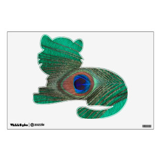 Green Peacock Feather Tiger Wall Decal