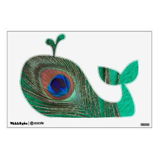peacock wall decals amp wall stickers zazzle peacock feather wall decal vinyl art stickers