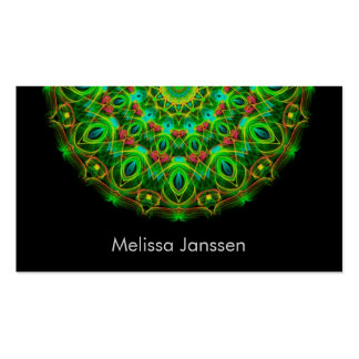 Green peacock - Mandala- Business Cards