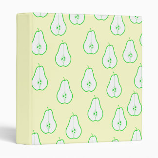 Green Pear Half Pattern. Binder
