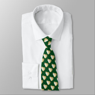 green pear with bite out fruit sketch design green tie
