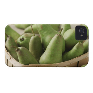 Green Pears in Punnet and Wooden Table iPhone 4 Case-Mate Case
