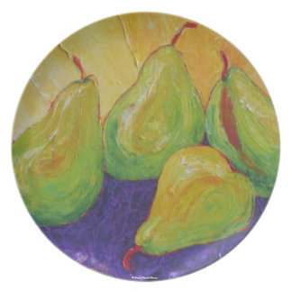 Green Pears Plate