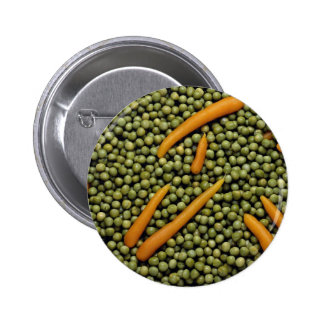 Green peas and carrots 2 inch round button