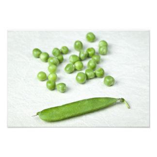 Green peas and husk photograph