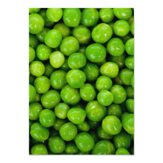 Green Peas Background Card