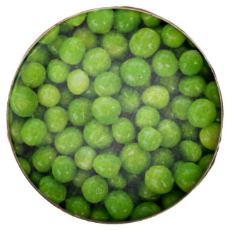 Green Peas Background Chocolate Covered Oreo