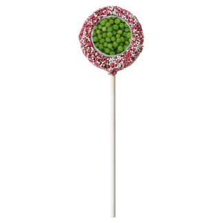 Green Peas Background Chocolate Covered Oreo Pop