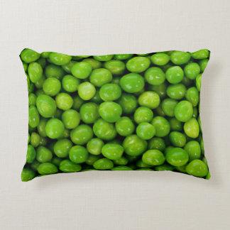 Green Peas Background Decorative Pillow