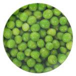 Green Peas Background Dinner Plate