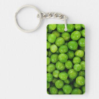 Green Peas Background Single-Sided Rectangular Acrylic Keychain