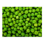 Green Peas Background Postcard