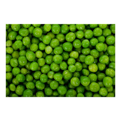 Green Peas Background Poster