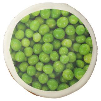 Green Peas Background Sugar Cookie
