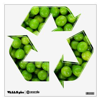 Green Peas Background Wall Sticker
