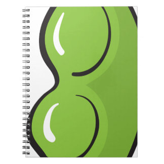 green peas spiral note books