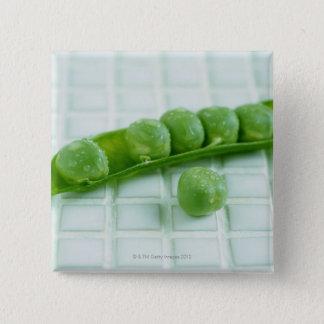 Green Peas Pinback Button
