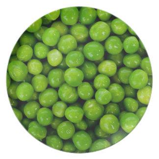Green peas dinner plate
