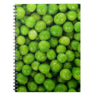Green peas spiral notebook