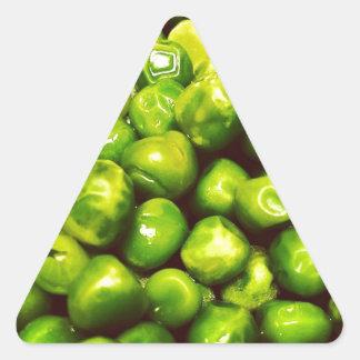 Green Peas Triangle Sticker