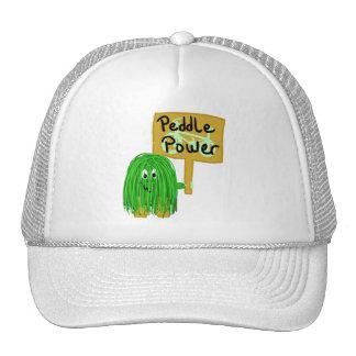 Green peddle power hat
