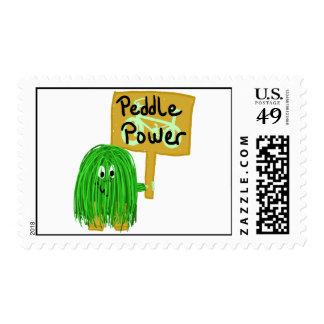 Green peddle power stamp