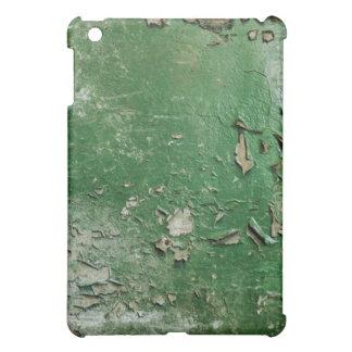 Green peeling paint background iPad mini case