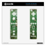 Green peeling paint background wii remote decals