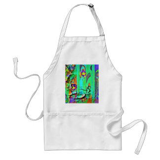 Green Peeling Wall Paper by Sharles Adult Apron