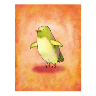 Green Penguin Postcatd Postcard