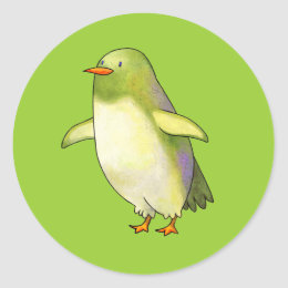Green Penguin Small Stickers