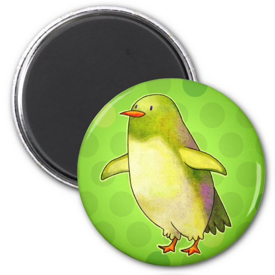 Green Penguin with Dot Magnet