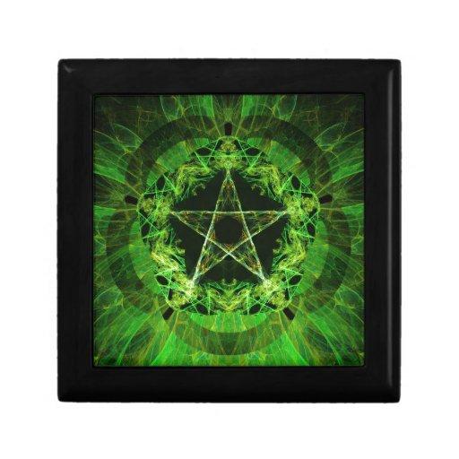 Green Pentacle Caja De Regalo