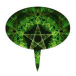 Green Pentacle Figuras De Tarta